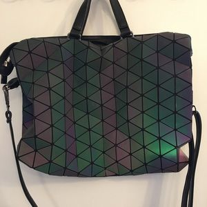 Geometric Triangle Design Purse
